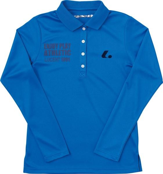 LUCENT(ルーセント) XLP4927 テニス レディース 長袖ポロシャツ ブルー 18SS