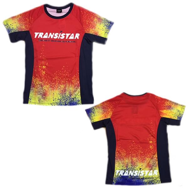 TRANSISTAR トランジスタ HB19AT03 RED ハンドボール HB19AT03-REDハンドボールサイドメッシュゲームシャツ おすすめ サイドメッシュゲームシャツ BURN 送料0円 BURNRED 19FW