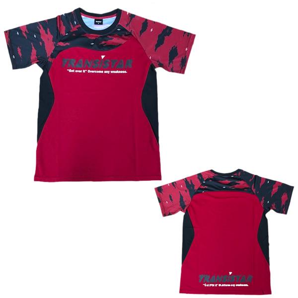 TRANSISTAR トランジスタ マーケティング HB20ST01 RED 新発売 20SS サイドメッシュゲームシャツ ハンドボール PICTOGRAM