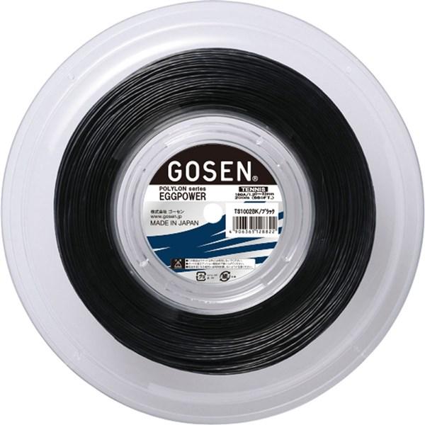 GOSEN(ゴーセン) TS1002BK テニス ガット エッグパワー16 ロール ブラック 19SS