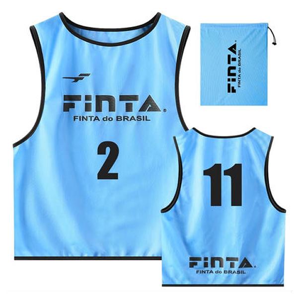 フィンタ(FINTA) FT6557 2200 サックス サッカー ジュニアビブス(20枚セット NO1-20付き) 20SS