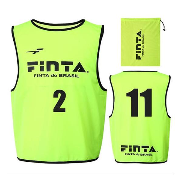 フィンタ(FINTA) FT6557 4100 イエロー サッカー ジュニアビブス(20枚セット NO1-20付き) 20SS