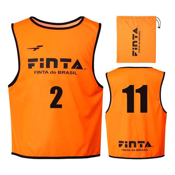 フィンタ(FINTA) FT6557 6100 オレンジ サッカー ジュニアビブス(20枚セット NO1-20付き) 20SS