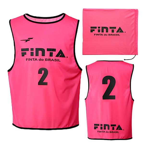 フィンタ(FINTA) FT6557 7200 ピンク サッカー ジュニアビブス(20枚セット NO1-20付き) 20SS