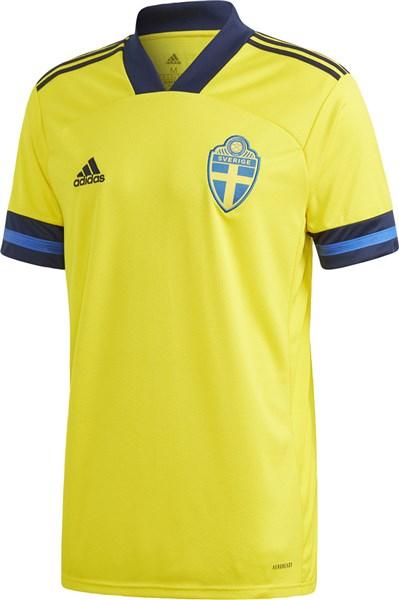 adidas(アディダス) GJO16 FH7620 サッカー レプリカシャツ スウェーデン代表 ホームジャージー 20Q1