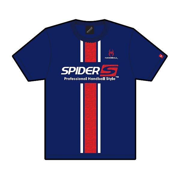 スパイダー SPIDER 限定特価 SPIDERHS 22 激安通販販売 ハンドボール DRY Tシャツ NAVY Design No.16 21SS