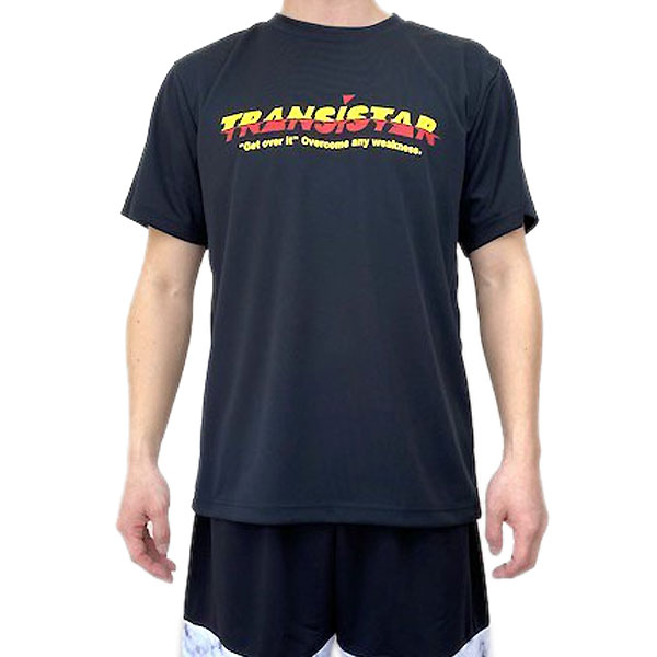TRANSISTAR トランジスタ HB21TS04 BLKYEL 無料サンプルOK ハンドボール LAG 気質アップ 半袖 Tシャツ 21SS