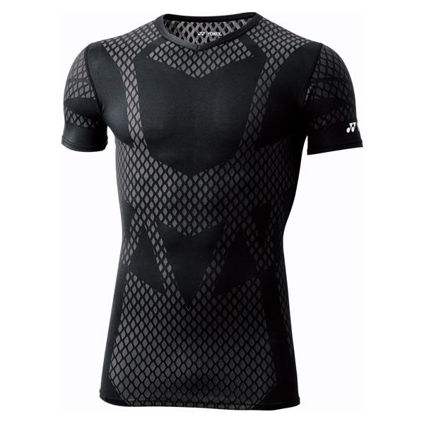 Yonex(ヨネックス) ユニ Vネック半袖シャツ STBA1016 ウエルネス Tシャツ ブラック 14SS