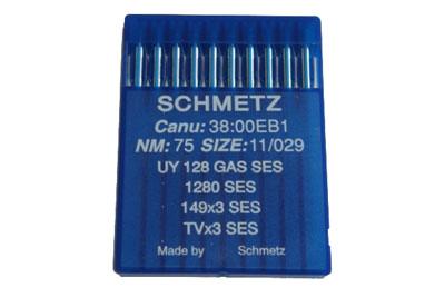 主に平縫いミシンに使用されているミシン針 シュメッツ針 UY*128GAS SES(10本入)【メール便での発送OK】