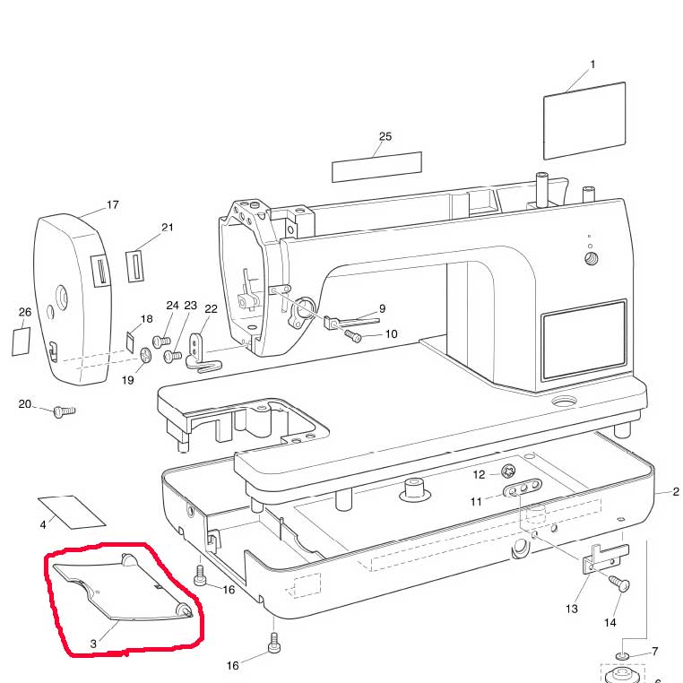 Ando Sewing Machine Lateral Cover For The Sewing Machine Nouvelle