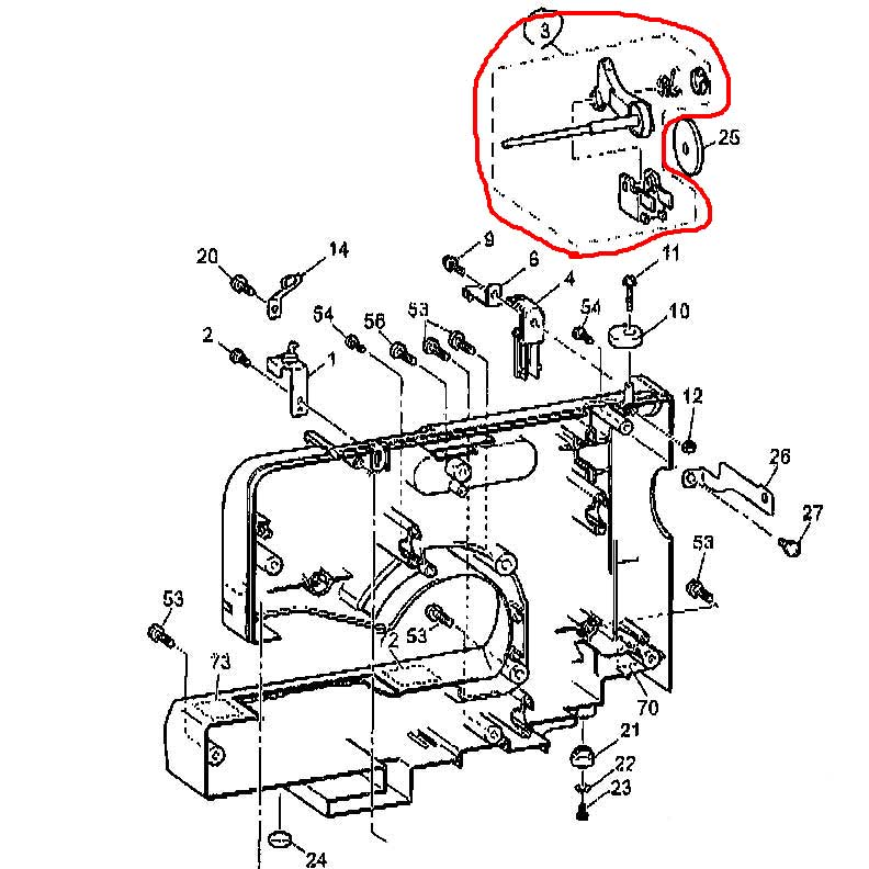 Ando Sewing Machine Put Up The Thread For The Sewing Machine Cpv70
