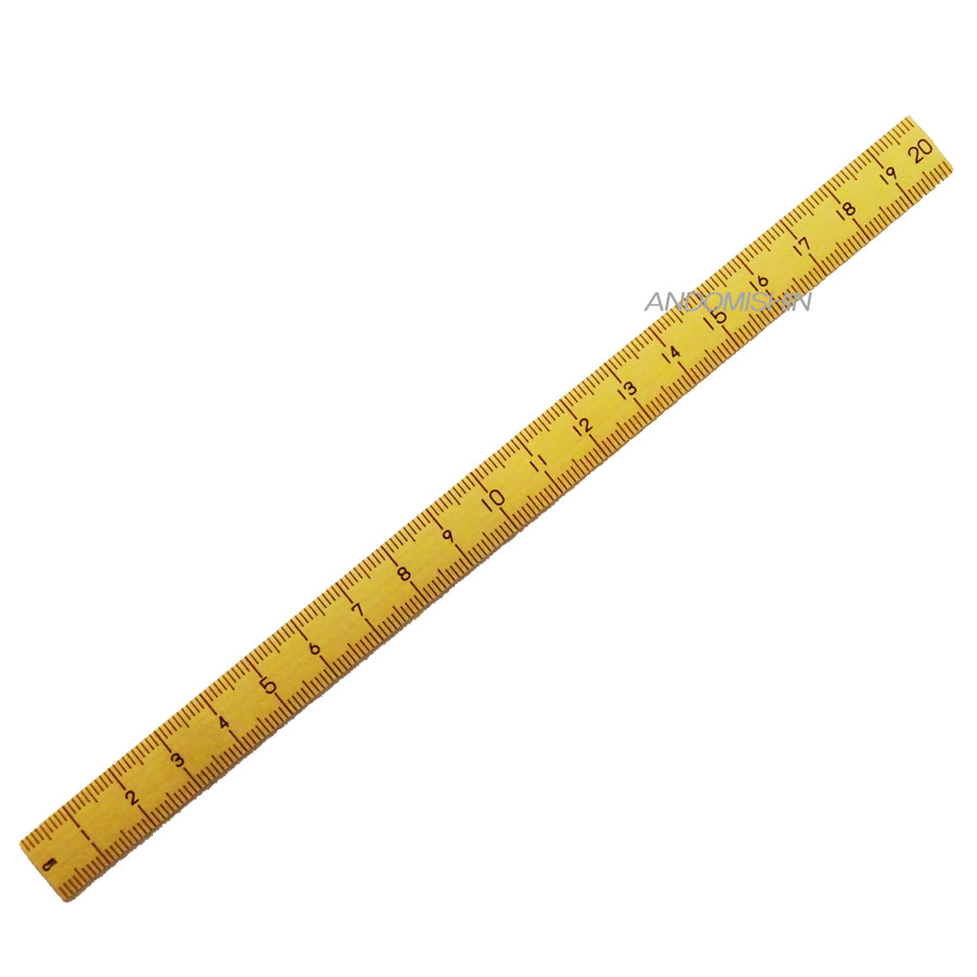 洋裁道具 和裁道具の必需品 1~20までの数字入 竹尺 高価値 期間限定の激安セール メール便での発送OK ものさし 20センチ 細幅