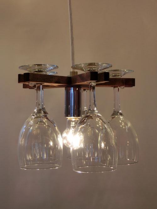 《送料区分1》フレイムスグラスシャンデリア 1灯(ダークブラウン) DP-061DB