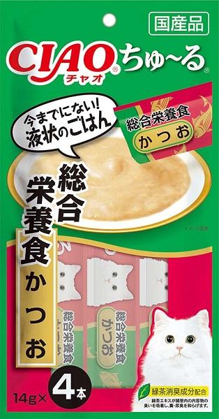 いなば CIAOちゅ~る 総合栄養食 爆買い新作 かつお 4本入り 14gx4本 日本限定 SC-158