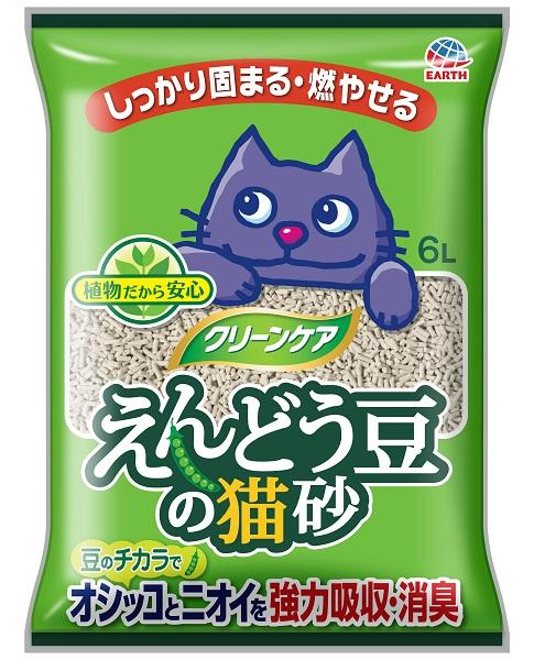 アース クリーンケア えんどう豆の猫砂 6L