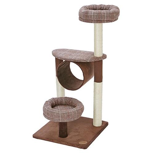 【在庫処分品】アドメイト 猫のおあそびポール チェック ミドルタイプ【目隠し梱包不可】