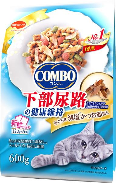 日本ペット コンボキャット 猫下部尿路の健康維持 まぐろ味 新作 購買 600g 減塩かつお節添え