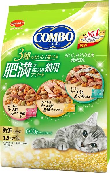 日本ペット コンボキャット 今ダケ送料無料 600g 正規品 肥満が気になる猫用アソート