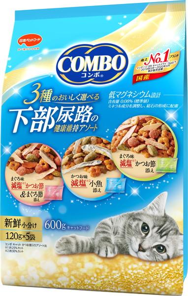 日本ペット コンボキャット テレビで話題 ショップ 下部尿路の健康維持アソート 600g