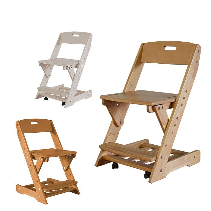 学習チェア グローアップチェア 椅子 グローアップチェアー ジュニアチェア チェア 木製チェア キッズチェア キッズチェアー 360度回転 キャスター付き 高さ調整 無垢材 子供用 白 ホワイト ライトブラウン ミドルブラウン