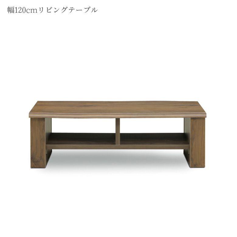 テーブル センターテーブル 幅120cm 完成品 ローテーブル 座卓 シンプル コンパクト 国産 日本製 リビングテーブル カフェテーブル 国産 おしゃれ 収納付き マガジンラック付き ブラウン ウォールナット ナチュラル 日本製