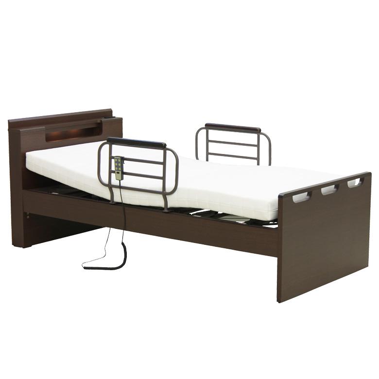 【再入荷!】 電動リクライニングベッド 2モーター シングル 電動ベッド リクライニングベッド 介護ベッド シングルベッド 木製ベッド 宮付き LEDライト付き フレームのみ 木製 ベッドフレーム ベッド ベット ダークブラウン, スズカシ 05d3f9aa