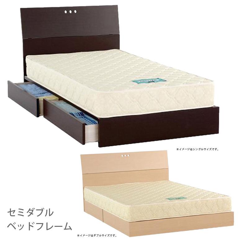 国産 ヒノキ床板 ベッド セミダブルベッド セミダブル ベッドフレーム 収納ベッド 引出し付き スライドレール 収納 低床ベッド ローベッド ステーションチュラル ブラウン ブラック アイアン スチール フルオープンレール