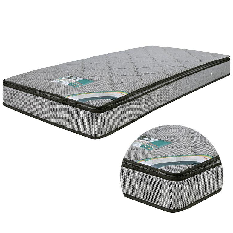 マットレス ポケットコイルマットレス コイル数 690個 厚み 24センチ ワイドダブル ファブリック ジャガード 張地 キルティング 低反発 ウレタン 布製 シンプル グレー 灰色 寝具 ベッド ワイドダブルマット ポケットマット
