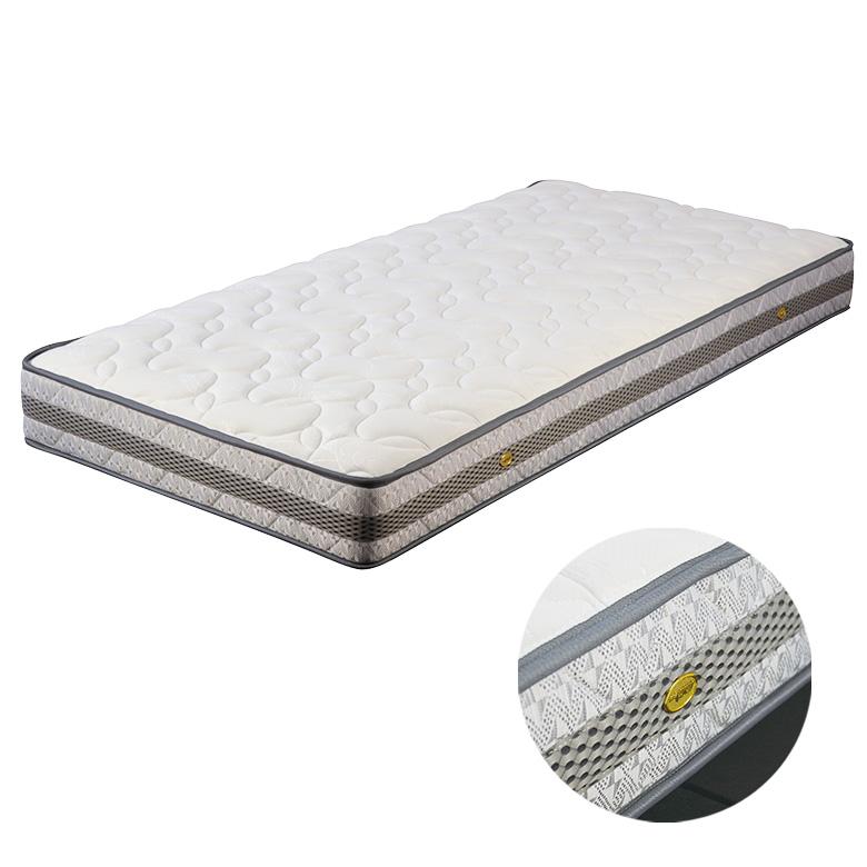 マットレス ポケットコイルマットレス コイル数 570個 厚み 25センチ セミダブル ファブリック ニット生地 ジャガード 低反発 ウレタン 布製 シンプル ホワイト 白色 寝具 ベッド セミダブルマット ポケットマット SDマット