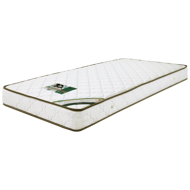 マットレス ポケットコイルマットレス コイル数 336個 厚み 19cm セミシングル ジャガード生地 キルティング加工 ファブリック 布製 シンプル ホワイト 白色 寝具 ベッド セミシングルマット ポケットマット SSマット
