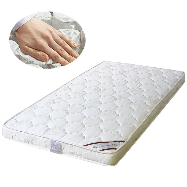 マットレス 薄型 マットレス ポケットコイル 薄型マット 厚み 13cm チェストベッド用 用 ベッド用 シングル ファブリック 布製 シンプル 寝具 ポリエステル アイボリー 白 ベッド シングルマット 子ども 買い替えマット