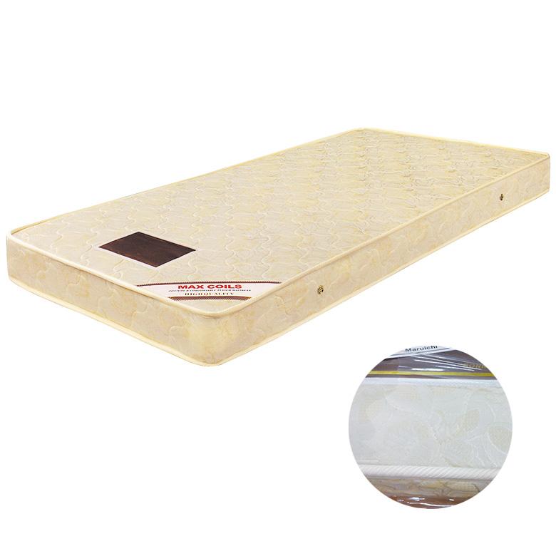 マットレス ボンネルコイルマットレス コイル数 320個 厚み 16cm セミダブル ファブリック プリント生地 ポリエステル 綿 布製 シンプル ベージュ 寝具 ベッド セミダブルサイズ セミダブルマット ボンネルマット SDマット