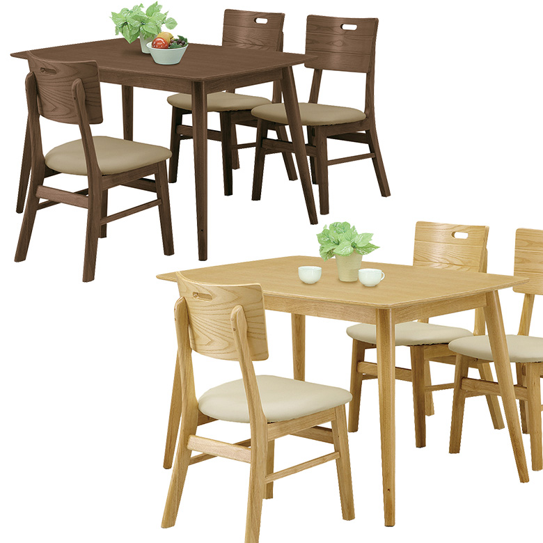 ダイニングテーブル 4人掛け 幅125cm テーブルのみ 4人用 テーブル単品 単品 食卓 ダイニング テーブル 食卓テーブル 木製 木製テーブル 選べる2色 ブラウン ナチュラル シンプル モダン 4人家族 新生活 引っ越し