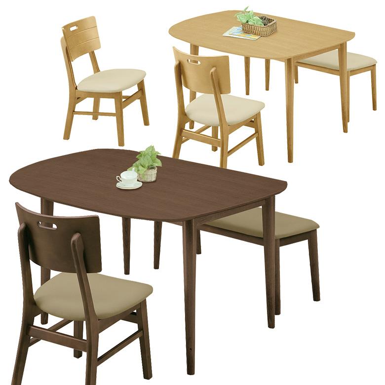 ダイニングテーブル 4人掛け 変形テーブル 幅130cm テーブルのみ 4人用 テーブル 単品 食卓 ダイニング テーブル 木製 選べる2色 ブラウン ナチュラル シンプル モダン 4人家族 新生活 引っ越し