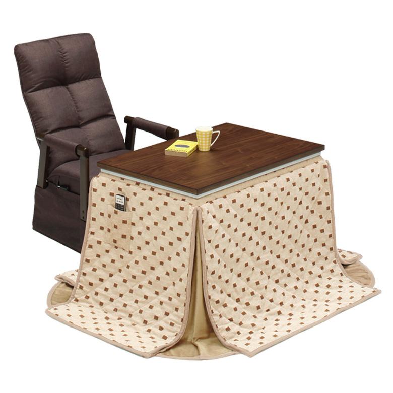 ダイニングこたつテーブル 3点セット ダイニングこたつセット ハイタイプ 幅90cm こたつ コタツ 暖卓 こたつテーブル こたつセット テーブルセット こたつ用ソファ ソファ こたつふとん こたつ布団 ブラウン ベージュ