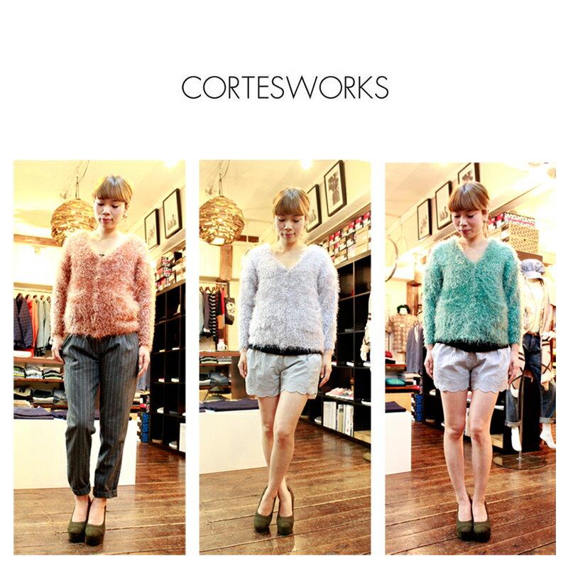 WEB限定 CORTESWORKS コルテスワークス ニット カーディガン 2013 AW KNIT CWK-7303-B 通販 FLUFFY COLOR 高い素材