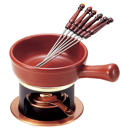 銅製 チョコレートフォンデュ&チーズフォンデュセット T-100