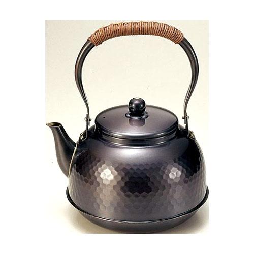 純銅製 鎚目湯沸し2.3L(黒銅仕上げ)やかん・ケトルBC-7