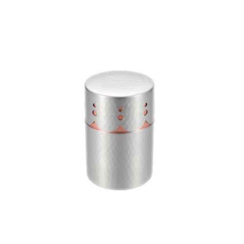 純銅 透かし彫り茶筒(錫仕上げ)BC-406SN