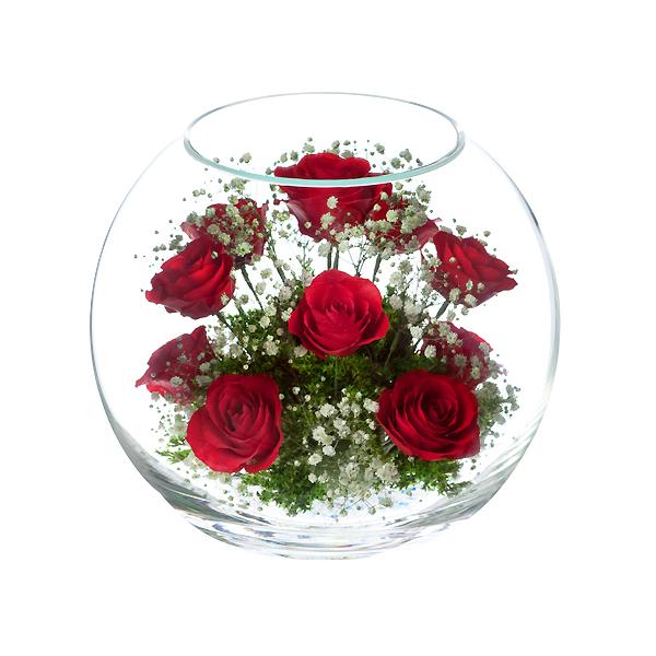 本物の花で、想いを伝える。レンデフロール バラ・かすみ草 B-N