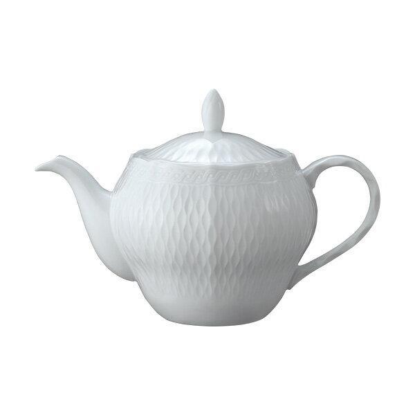 Noritake(ノリタケ) シェール ブラン ティーポット【大】T94863/1655 cher blanc 白い食器 エレガンス 紅茶