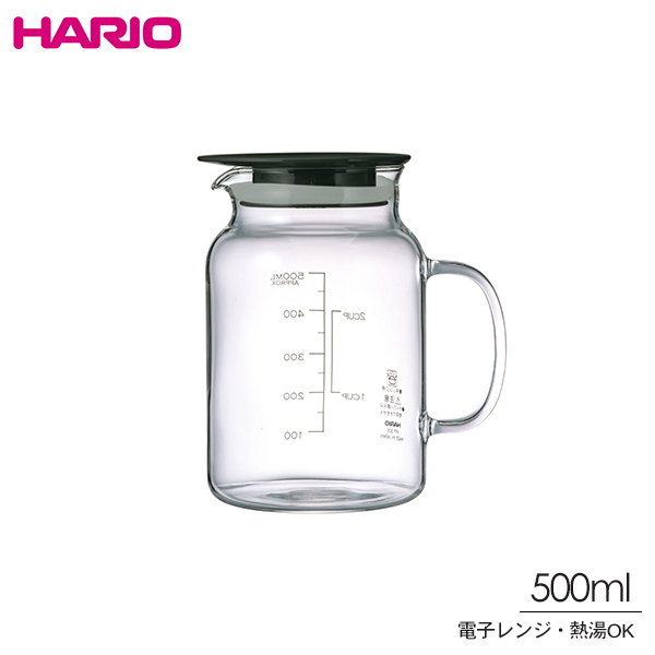 Hario ハリオ ビネガーズ フルーツポット 500ml VFPI-500-B ドリンクポット 冷水筒