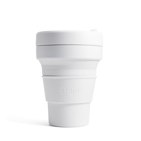 NY発 入手困難 折りたためるマイカップ stojo ストージョ POCKET CUP QUARTZ 355ml 別倉庫からの配送 折り畳みマイカップ マイタンブラー 12oz シリコンカップ