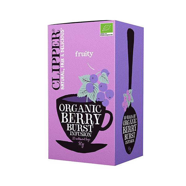 甘酸っぱいベリーの香り CLIPPER クリッパー オーガニックハーブティー ワイルドベリー 2.5g×20P ティーバッグ