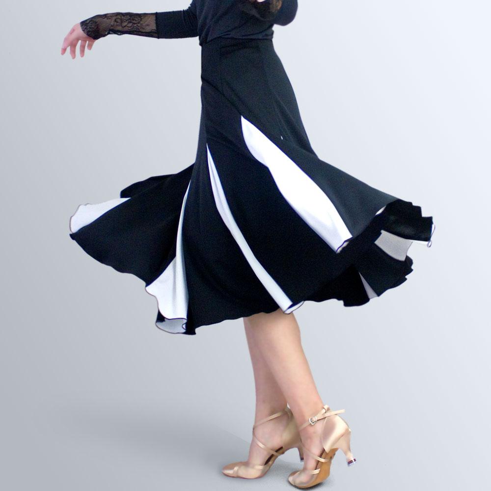 ダンス用品 ダンススカート05 ウエスト44~58cm 丈45cm 社交ダンス スカート かっこいい 可愛い 動きやすい 白 ブラック レッスンウエア シンプル 信用 送料無料お手入れ要らず 日本製 黒 ホワイト 初心者 練習着
