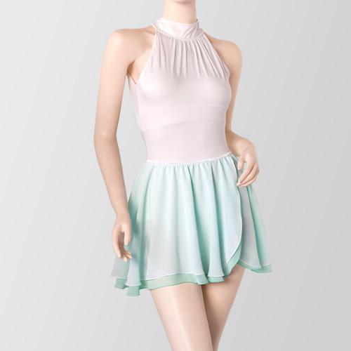 プロフェッショナルコレクション ホルターネックレオタード P01 & バレエスカート 07