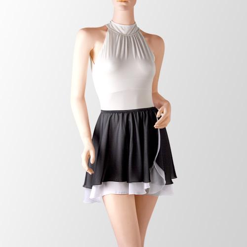 プロフェッショナルコレクション ホルターネックレオタード 01 & スカート 05