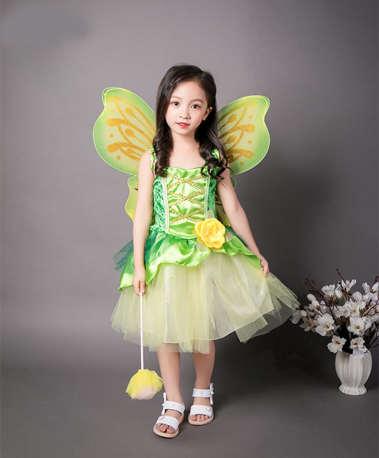 f9382eb8f7bcc 楽天市場 送料無料 プリンセス ドレス キッズ ワンピース 衣装緑 ...