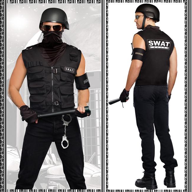 【送料無料】ポリス・警察官・SWAT(スワット)特殊部隊コスチューム (ハロウィン/衣装/セクシー/SEXY/コスプレ/パーティー/Halloween/大人用/メンズ/男性用)/DreamGirl/ドリームガール