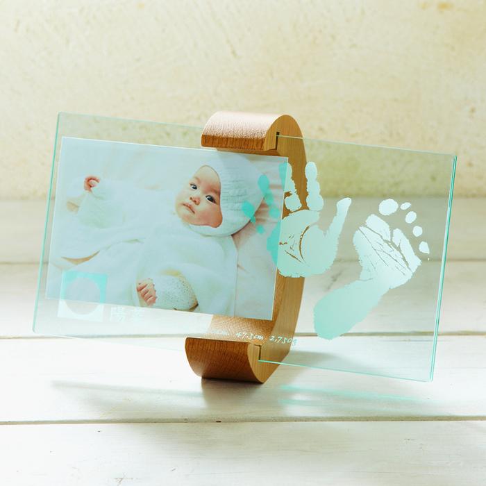 【クーポン配布中】【送料無料】【ベビー】 【ちあき工房】ムーンフォトスタンド 【赤ちゃん メモリアル メモリー 記念品 内祝い ギフト 手形 足型 フォトフレーム 写真入れ】